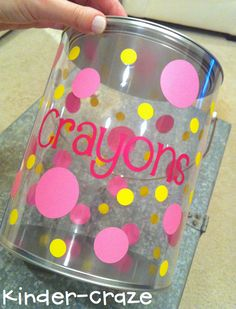 tutorial for decorating clear plastic paint cans