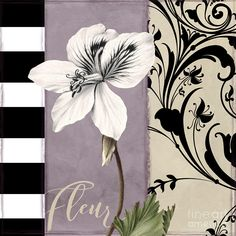 White Flower Painting - Modern Mauve by Mindy Sommers