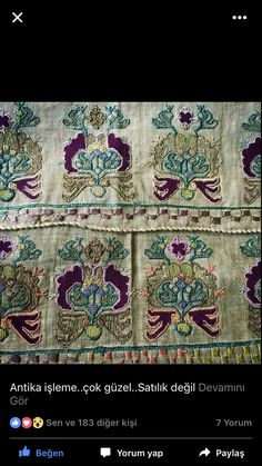 Turkish Style, Turkish Fashion, Ikat, Handicraft, Linens, Hand Embroidery, Folk Art, Needlework, Diy And Crafts