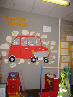 I like the picture of the car with the parts labeled Dramatic Play Themes, Dramatic Play Area, Dramatic Play Centers, Cars Preschool, Preschool Activities, Transportation Unit, Role Play Areas, Mechanic Shop, Imagination Station