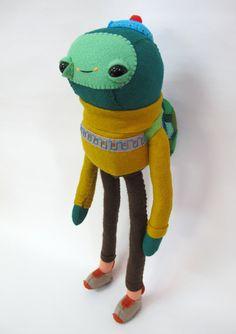 Turtle in a Turtleneck Made to Order por catrabbitplush en Etsy, $160.00