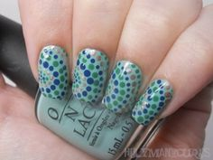 Holy Manicures: Dotted Curve Nails.