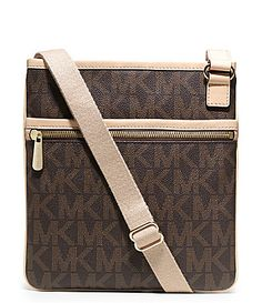 MICHAEL Michael Kors Signature Large Jet Set CrossBody Bag #Dillards