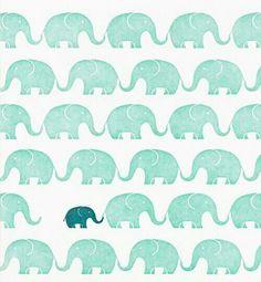 Torquoise elephants.