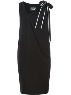 BOUTIQUE MOSCHINO Bow Detail Shift Dress. #boutiquemoschino #cloth #dress