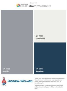 New Ideas Exterior House Colors Blue Grey White Trim White Exterior Houses, Exterior Paint Colors For House, Paint Colors For Home, Exterior Colors, Navy House Exterior, Exterior Homes, Navy Blue Houses, Grey Houses, Grey House White Trim