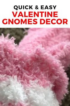Decorate your home for Valentine's day with this easy and cheap diy project. Place these cute gnomes in your living room for much added love and sweetness. #diy #homedecor #valentines