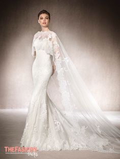 Whether sheer or laced, the cape proves its super power as to go-to cover-up. Check out our favorites, and browse our gown gallery for more gorgeous styles. Please contact the designer for authoriz…