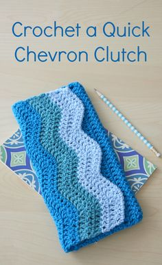Perfect for a night on the town or to keep simple supplies, this adorable pouch is easy to make with basic crochet stitches. Beautiful chevron design makes this clutch equally fashionable and functional.