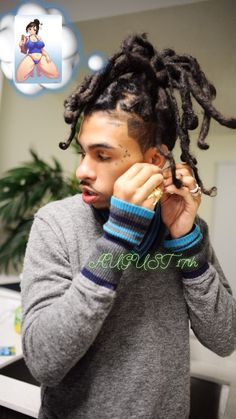 Spidey dreds are hot. Mens Braids Hairstyles, Black Men Hairstyles, Hairstyle Ideas, Boys Eyebrows, Robb Banks, Handsome Black Men, Unique Tattoos, Pretty Boys, Arm Warmers