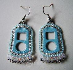 Tiffany blau Perlen kann Ohrringe tab von Sobby auf Etsy, $15.00