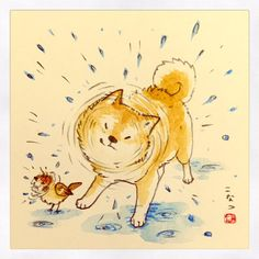 Really Cool Drawings, Cute Drawings, Animal Sketches, Animal Drawings, Anime Animals, Cute Animals, Funny Animals, Chibi Dog, Cute Cats And Dogs