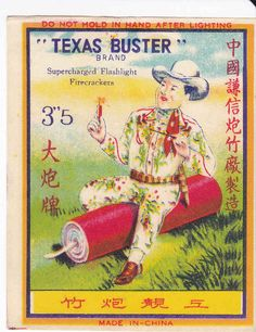 9 Cool Vintage Chinese Firecracker Labels