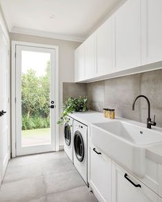 A very clean and modern laundry room that is perfect in a narrow space.A very clean and modern laundry room that is perfect in a narrow space.A very clean and modern laundry room that is perfect in a narrow space.There are several tasks in life which Mudroom Laundry Room, Laundry Room Layouts, Laundry Room Remodel, Laundry Room Organization, Laundry In Bathroom, Laundry Decor, Laundry In Kitchen, Mudrooms With Laundry, Laundry Room Floors