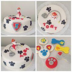 Torta y cookies paw patrol