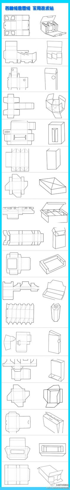 Dieline cut templates