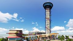 The Skyscraper roller coaster is due to open for business in 2016 (Image: Skyplex)