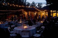 a backyard wedding: Q&A: How do you light a backyard?