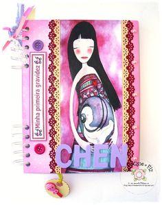 Livro/Diário de gravidez - modelo oriental