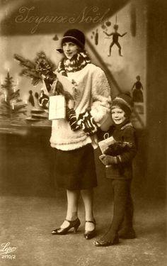 Joyeux Noel -Mery Christmas - 1920's. S)