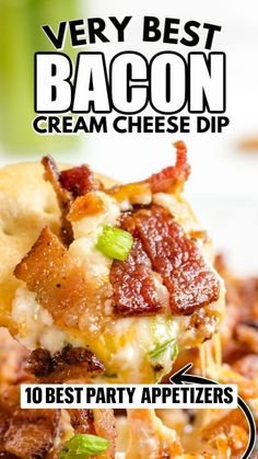 Best Party Appetizers, Recipes Appetizers And Snacks, Quick Appetizers, Snack Recipes, Cooking Recipes, Party Food Bars, Bacon Seasoning, Cheese Dip Recipes, Good Food
