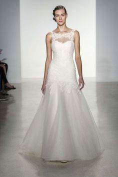 pictures of wedding dresses with added illusion necklines | The Best New Wedding Dress Trends For 2014