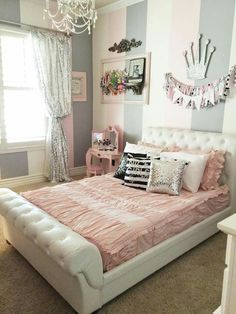 Teen girl bedrooms, pop by this reference for that really spectacular teen girl room decor, example number 9849532821 Cute Girls Bedrooms, Little Girl Rooms, Kids Bedroom, Bedroom Decor, Bedroom Furniture, Room Decor For Girls, Tween Girls Bedroom Ideas, Preteen Girls Rooms, Girls Room Design