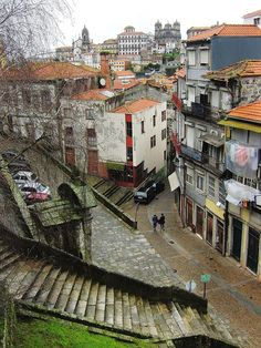 Centro Histórico do Porto www.webook.pt #webookporto #porto #ruasdoporto Porto Portugal, Spain And Portugal, Porto City, Portuguese Culture, Douro, Colouring Pics, Lithuania, Gaia, Stairways