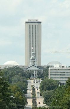 Tallahassee Florida - State Capitol  (Old one in front with new on in the back ~tall).  I visited in high school for a leadership conference.  I was Reading Clerk of the House of Representatives.  A great experience.