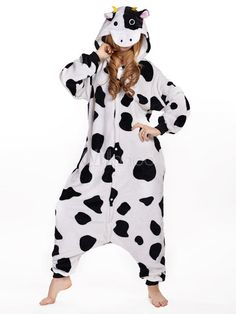 BELIFECOS Unisex Adult Pajamas Plush One Piece Cosplay Cow Animal Costume SCow * To view further for this item, visit the image link. Adult Pajamas, Animal Pajamas, Cute Pajamas, Pajamas Women, Sleepwear Women, Costume Halloween, Costume Carnaval, Halloween Onesie, Halloween 2020