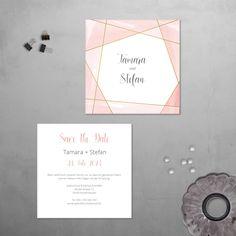 Urban | Save the Date Postkarte mit Goldfolienprägung, Hochzeit