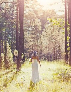 I do love the ocean but I also am in love with the woods. I love her dress and this picture