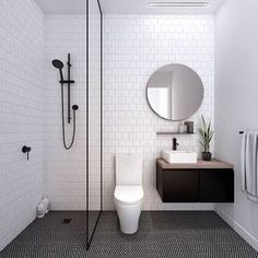 """Scandinavian Lifestyling on Instagram: """"I call this LUST. Call it basic, call it simple but don't underestimate the power of Black in the bathroom. If I were another bathroom I'd want to date YOU. @fieldwork_architects creating an apartment bathroom in our curated elements."""""""