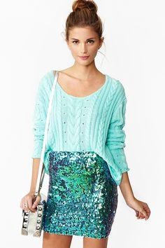 Splash Sequin Skirt