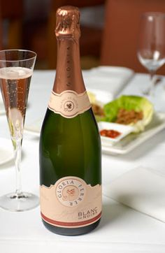Best sparkling wine, Rose Cuvee from Gloria Ferrer.  Click for Food & Wine pairing. LOVE IT!