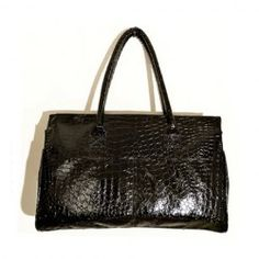 $11.04 Casual Women's Shoulder Bag With Black and Crocodile Print Design