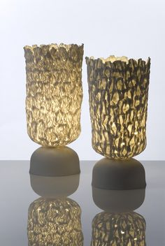 Porcelain lamps by Jo Wood