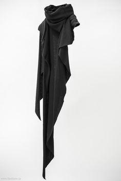 Devoa Cotton x Cashmere Stole / OAC-KCC / Black x Charcoal