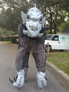 Larger-than-Life Grey Ghouly Stilted Gargoyle Costume… Coolest Halloween Costume Contest