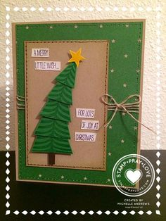 Stampin' Up! Christmas Festival of Trees Need to give this one a try to post on www.actofstamping.blogspot.com