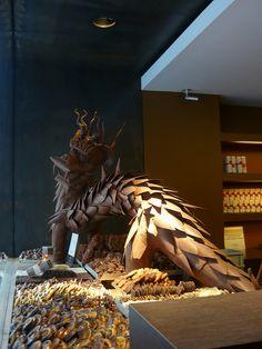 Dragon Chocolate Sculpture - Bruges