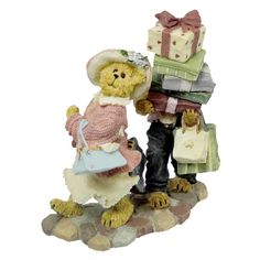 Amazon.com - Boyds Bears Ms. Shopsalot with Schlepper... Just One More Stop 2277990 - Collectible Figurines+