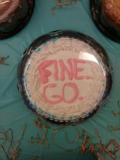 When you have to bring a cake to bae's goodbye party and you're still mad they're leaving...