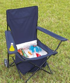 Rolling cooler chair. would be perfect for a festival!!!
