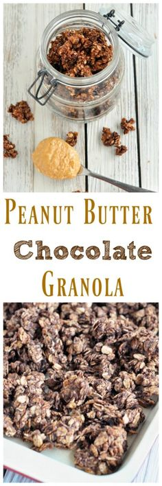 This Peanut Butter Cup Granola makes you feel like you are eating dessert for breakfast! Vegan and gluten free.