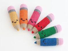 Amigurumi Crayon Pencil - FREE Crochet Pattern / Tutorial