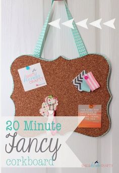 20 Minute Tuesday | Shaped Cork Board. Sooo going to make this for Adi in a guitar shape for her new room.