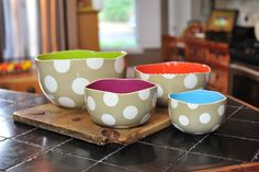 Delight the bride and groom with these darling Dizzy Bowls from Coton Colors!