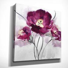 'My Magenta I' by Nan Painting Print on Wrapped Canvas