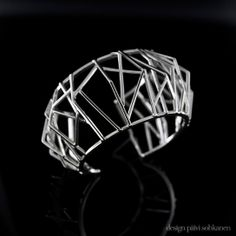 """Ark!""-bracelet made of silver, Design Päivi Sohkanen www.paivisohkanen.fi"